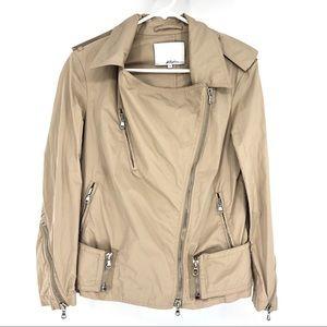 3.1 Phillip Lim Moto Silver Zipper Detail Jacket